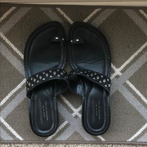Donald Pliner Black Studded Sandals